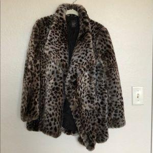 Leopard print winter coat